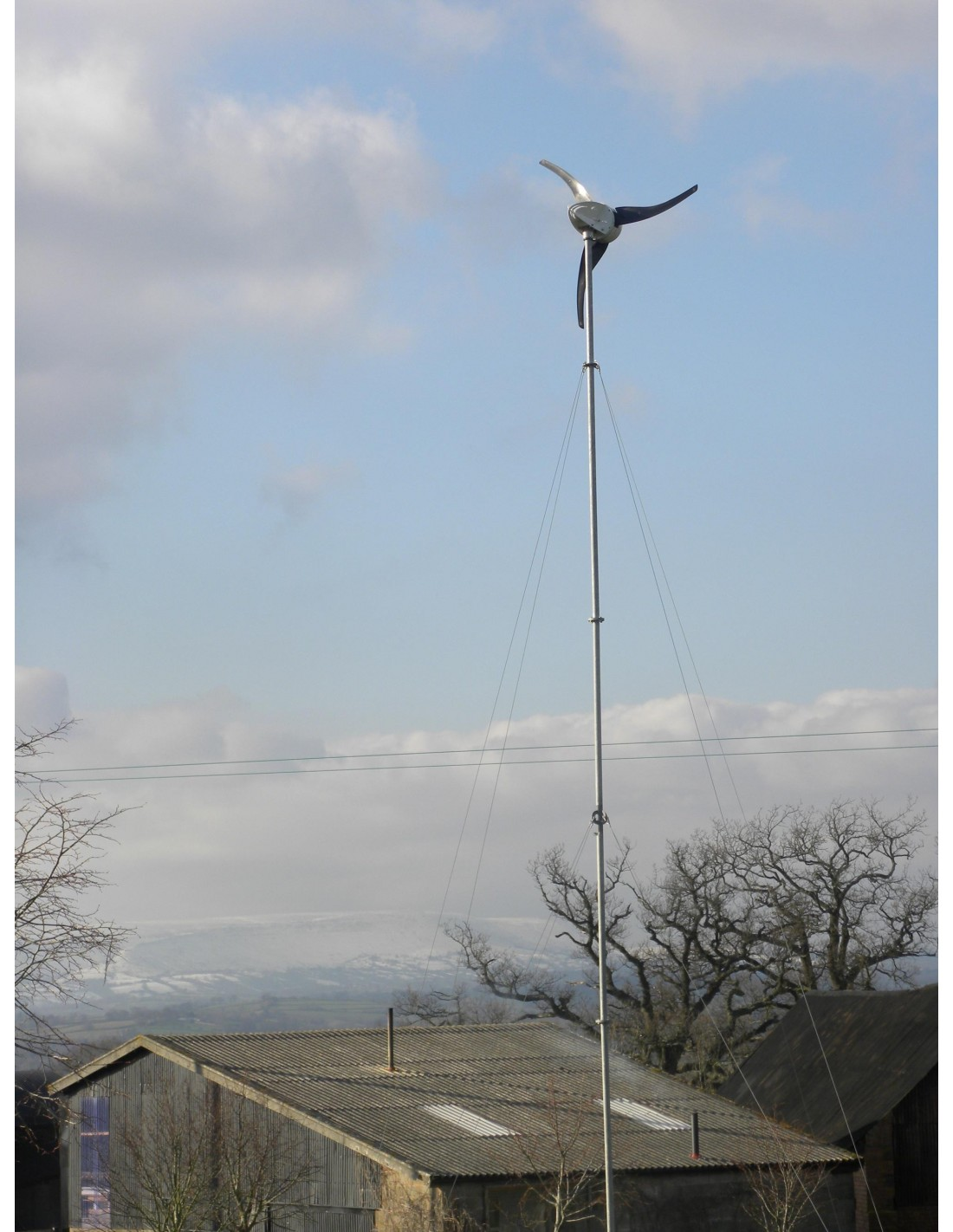 Wind Turbine Tower Le300 Le450 Le600 9m Off Grid