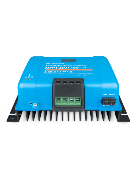 Victron SmartSolar 250/100 MPPT Charge Controller from below