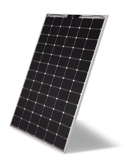 LG Bifacial Solar PV Panel 390-507 Wp from side at an angle