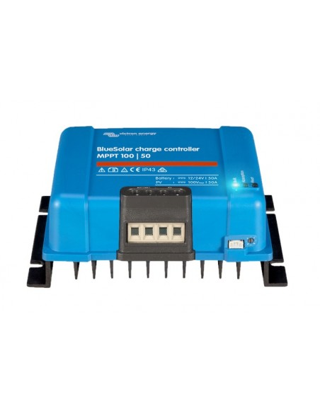Victron BlueSolar 100/50 MPPT Charge Controller from below
