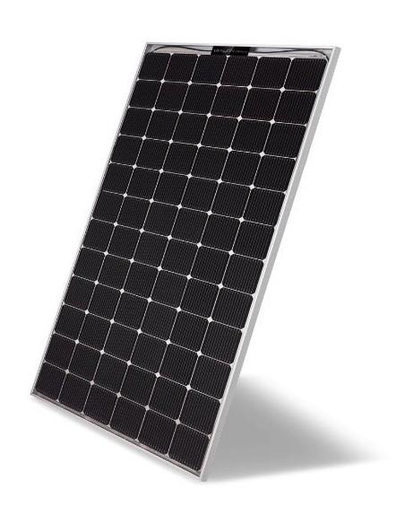 LG Bifacial Solar PV Panel 390-507 Wp from side at an angle