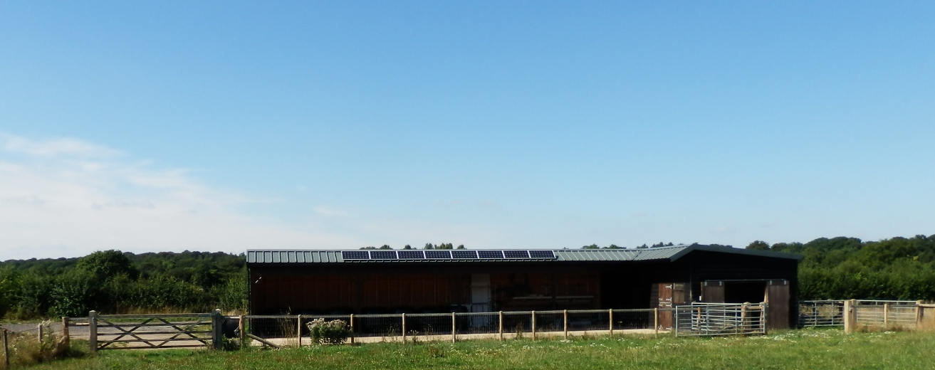 solar powered lighting system for stables